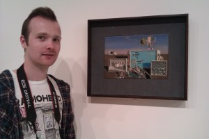 sean next to salvador dalis painting
